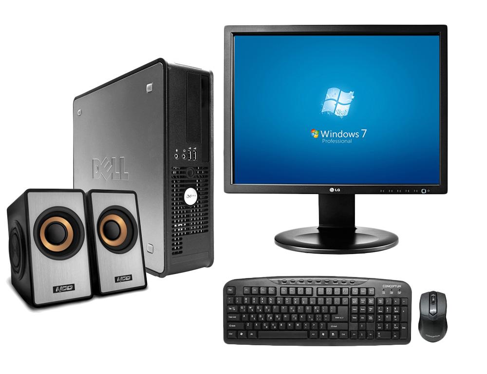 """Εικόνα PC Set Dell Optiplex 780 SFF - Intel Core 2 Duo E8xxx - 4GB RAM - 500GB HDD - Χωρίς οπτικό δίσκο - Windows 7 Professional + Monitor 19"""" LG + Σετ Πληκτρολόγιο Ποντίκι Conceptum + Speakers 2.0 NOD"""