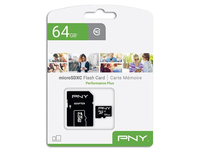 Εικόνα Κάρτα μνήμης microSDXC PNY P-SDU64G10PPL-GE  64GB Class 10 U1 with Adapter