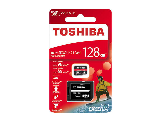 Εικόνα Micro SD Toshiba 128GB M303 4k With Adapter