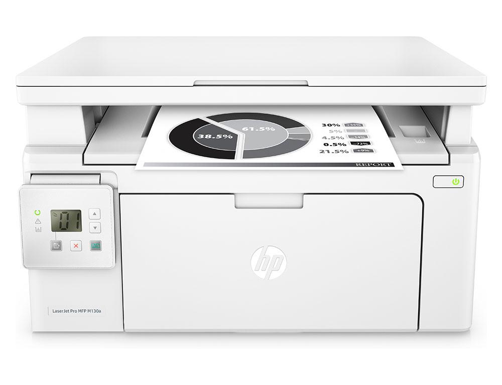 Εικόνα Μονόχρωμο Πολυμηχάνημα HP LaserJet Pro MFP M130a (G3Q57A) - A4 - Εκτύπωση, Σάρωση, Αντιγραφή - 600 x 600 dpi - 22ppm - USB