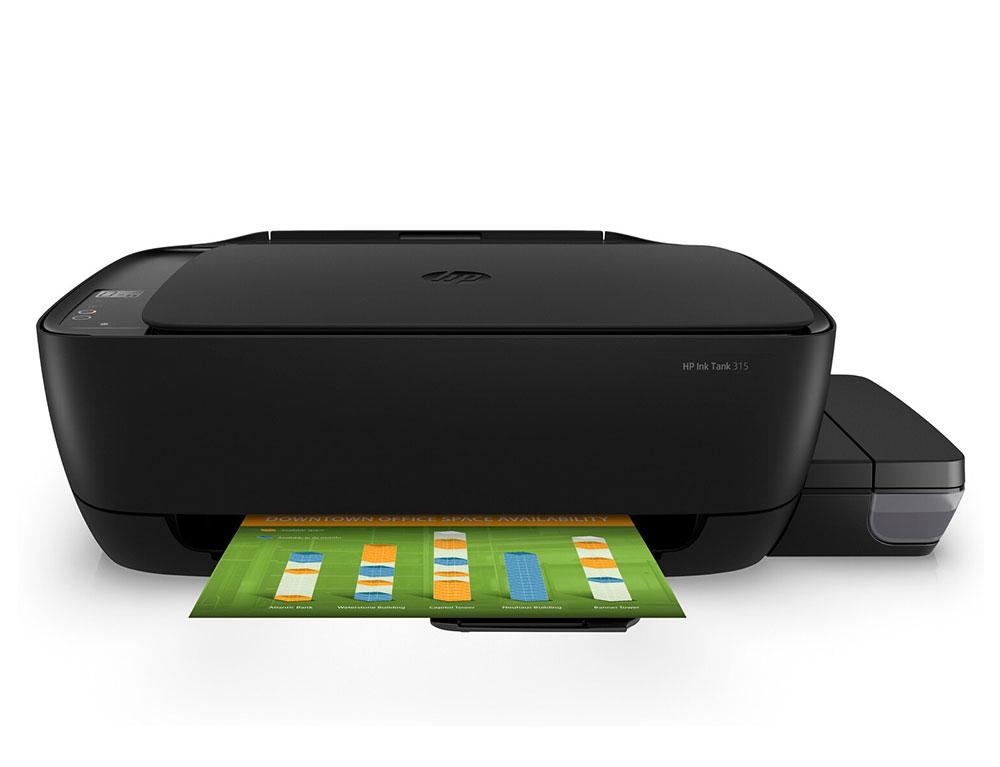 Εικόνα Έγχρωμο Πολυμηχάνημα HP Ink Tank 315 (Z4B04A) - Α4 - Εκτύπωση, Σάρωση, Αντιγραφή - 4800 x 1200 dpi - 8ppm - USB 2.0