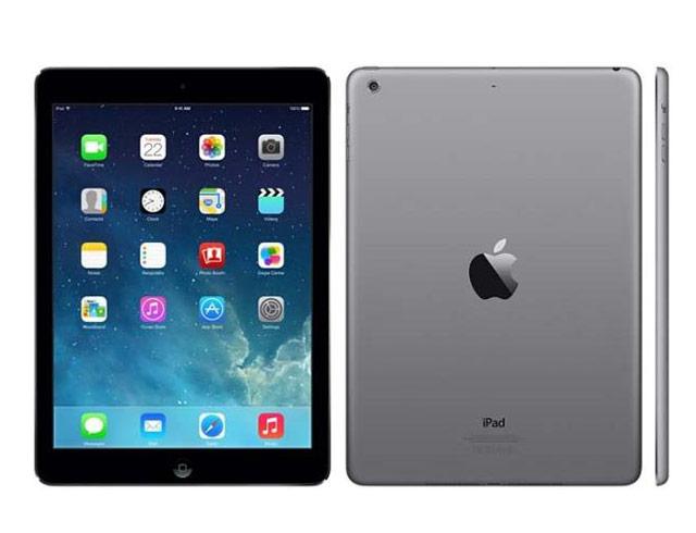 """Εικόνα Apple iPad Air Wi-Fi 16GB Space Gray (MD785-EU) - Οθόνη Retina 9.7"""" - A7 Chip - 16GB αποθηκευτικός χώρος - 2 κάμερες - Περιλαμβάνει καλώδιο φόρτισης USB"""