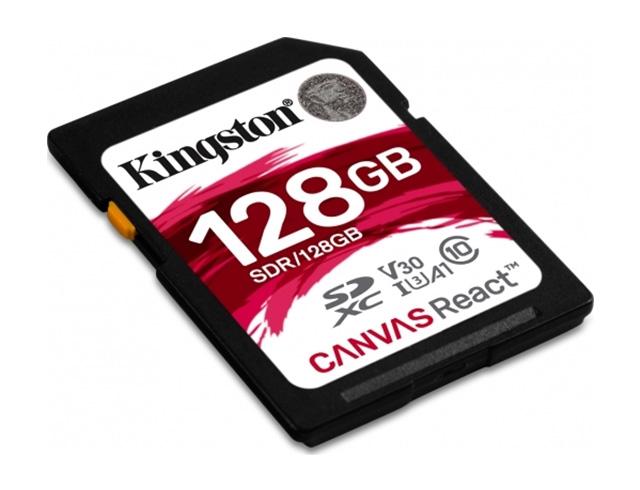 Εικόνα Κάρτα Μνήμης Kingston SDXC Canvas React 128GB Class 10 U3