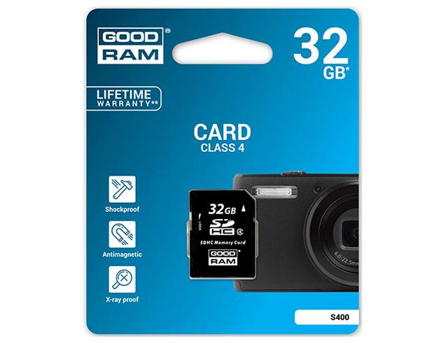 Εικόνα SD Card GoodRAM S400 SDHC - 32GB - Class 4