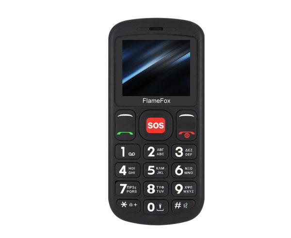 """Εικόνα Κινητό Απλής Χρήσης FlameFox Care1 1.77"""" Με Bluetooth - Black"""