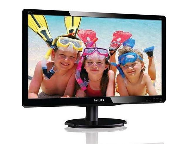 """Εικόνα Monitor 19.5"""" Philips 200V4LAB2 - Ανάλυση HD+ - DVI, VGA"""