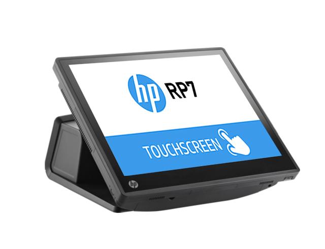 """Εικόνα HP Retail System RP7 7800 - Οθόνη αφής 15"""" - Intel Celeron G540 - 4GB RAM - 320GB HDD - Windows 10 Pro"""