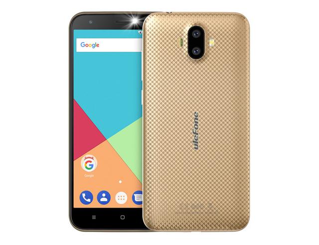 """Εικόνα ULEFONE Smartphone S7, 5"""" HD, 1GB/8GB, Quad Core, Dual Cameras, Gold"""