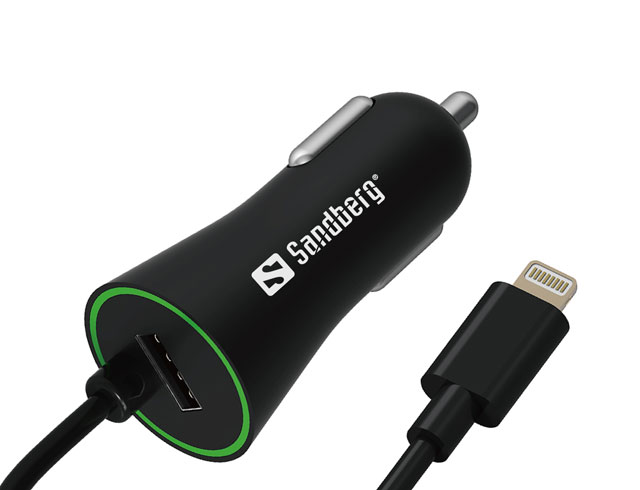 Εικόνα SANDBERG CAR CHARGER LIGHTNING+USB 3.4A