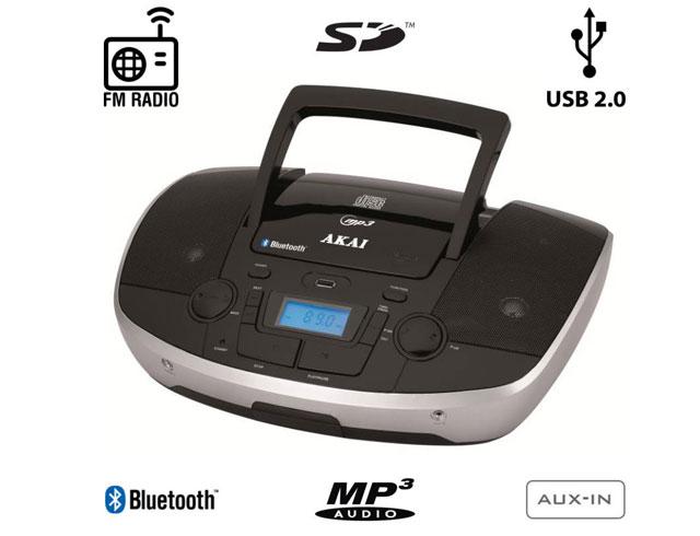 Εικόνα Akai APRC-108 Φορητό HI-FI με Bluetooth, CD, USB για φόρτηση συσκευών, SD και AUX