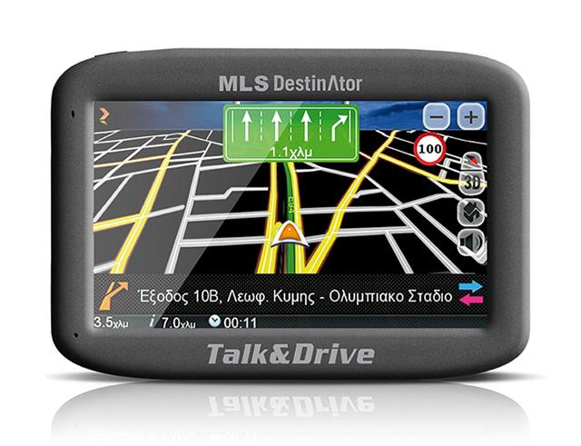 Εικόνα MLS Destinator 433 Talk & Drive με χάρτες Ελλάδας - Κύπρου