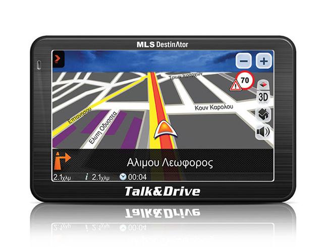 Εικόνα MLS Destinator Talk & Drive 510Μ με χάρτες Ελλάδας-Ευρώπης