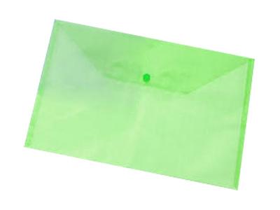 Εικόνα Φάκελος A4 PP με κουμπί - Διάφανο πράσινο