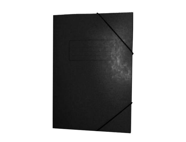 Εικόνα Ντοσίε Prespan με λάστιχο 25x35 - Μαύρο