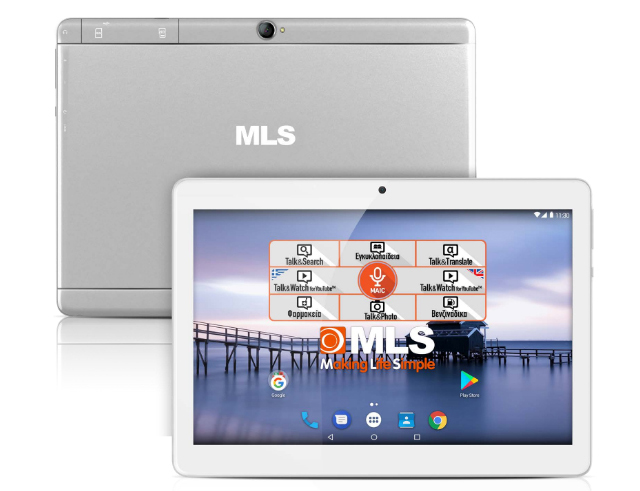 "Εικόνα Tablet 10,1"" MLS Alu Plus - 16GB - 4G / LTE - Silver"