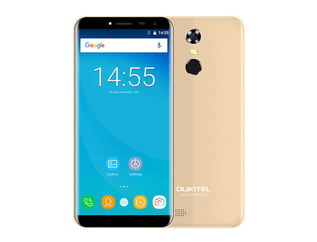 "Εικόνα Smartphone Oukitel C8, 5.5"" HD, 2GB/16GB, Quad Core, 3000mAh, Gold"