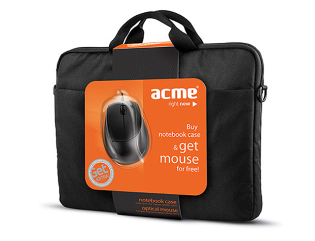 Εικόνα ACME 16M37 Notebook Case + MS13 Optical mouse