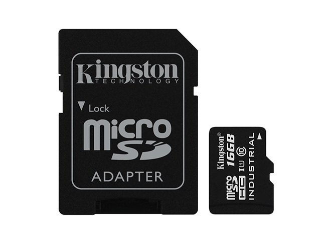 Εικόνα Kingston Industrial Temperature microSDHC 16GB U1 with Adapter