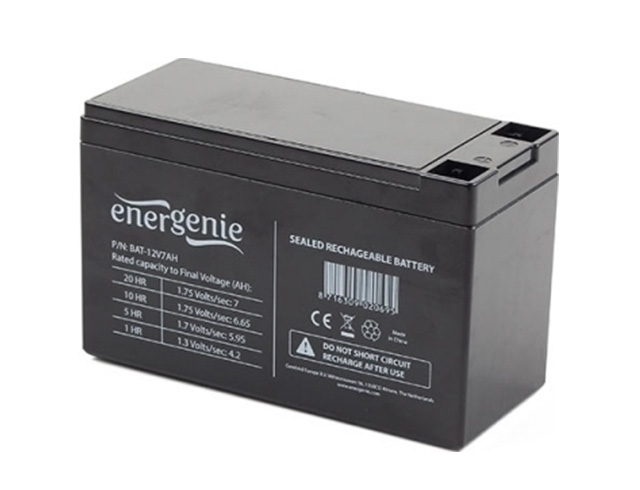 Εικόνα Energenie Lead Battery 12V 7Ah