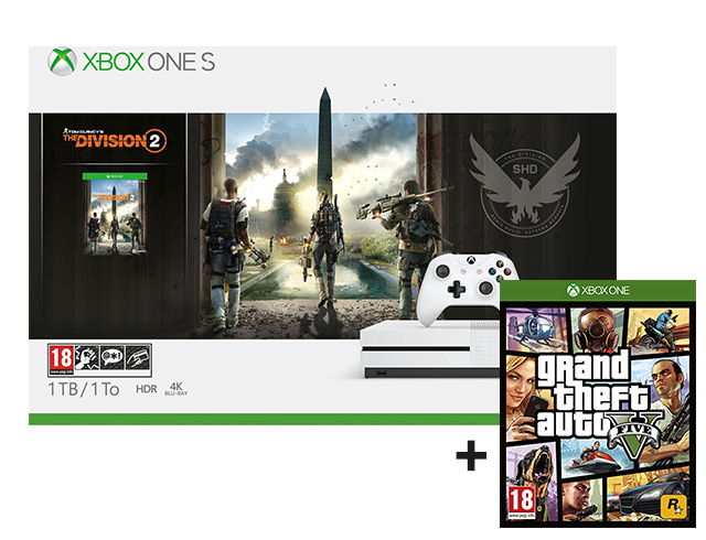 Εικόνα Κονσόλα Microsoft Xbox One S - 1TB (Tom Clancy's The Division 2 + Grand Theft Auto V)