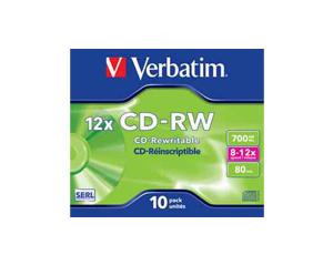 Εικόνα CD-RW VERBATIM VER43148 10P 700MB 12X