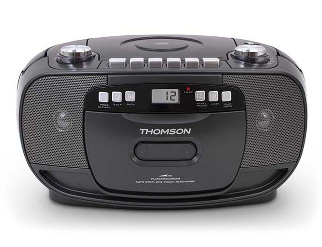 Εικόνα Φορητό ηχοσύστημα Thomson RK200CD - FM/CD/Tape/REC - LCD - Black