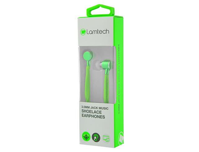 Εικόνα Lamtech Shoelace Music Earphones 3,5mm Jack - Green