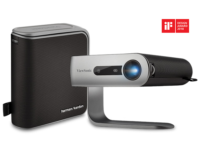 Εικόνα Φορητός Projector Viewsonic M1+ - DLP - Ανάλυση WVGA - 250 Lumens - Αυτόνομη προβολή / WiFi / Smart TV / USB Stick / ΜicroSD / USB-C