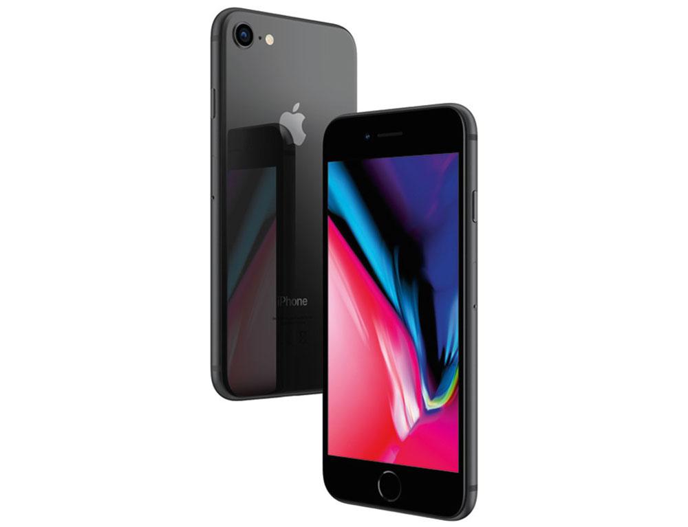 """Εικόνα Smartphone Apple iPhone 8 - Οθόνη HD Retina 4.7"""" - Εξπύρηνος Επεξεργαστής - 12MP Κάμερα - 2GB RAM / 64GB ROM - - Black - Περιλαμβάνει μόνο το καλώδιο φόρτισης"""