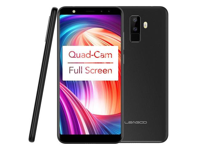 """Εικόνα Smartphone 5.5"""" Leagoo M9, HD IPS, Quad Core, 2GB/16GB, Quad Cam - Black"""