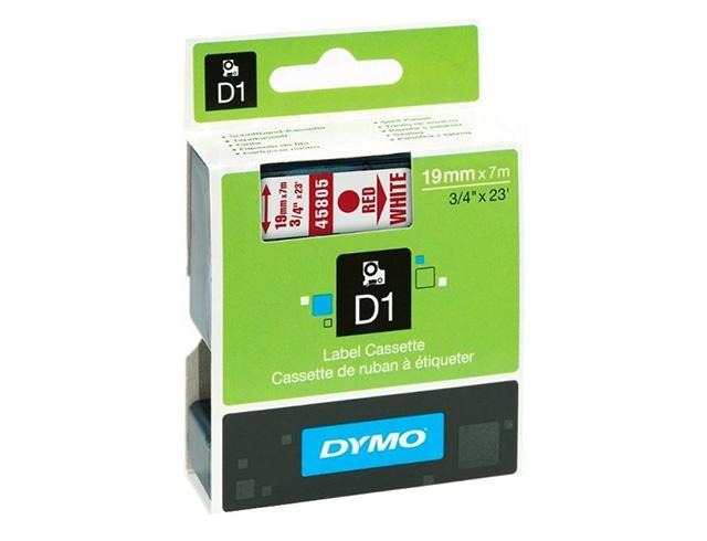 Εικόνα Dymo Ετικέτες D 45805 D1 Τape 19mx7M RED on - White