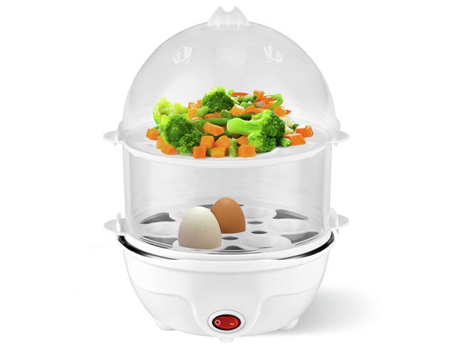 Εικόνα Ατμομάγειρας και βραστήρας αυγών Kalorik EK 1001 - 2 επιπέδων - 350W
