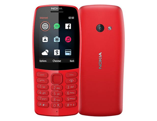 """Εικόνα Κινητό απλής χρήσης 2.4"""" Nokia 210 Dual SIM - Red"""