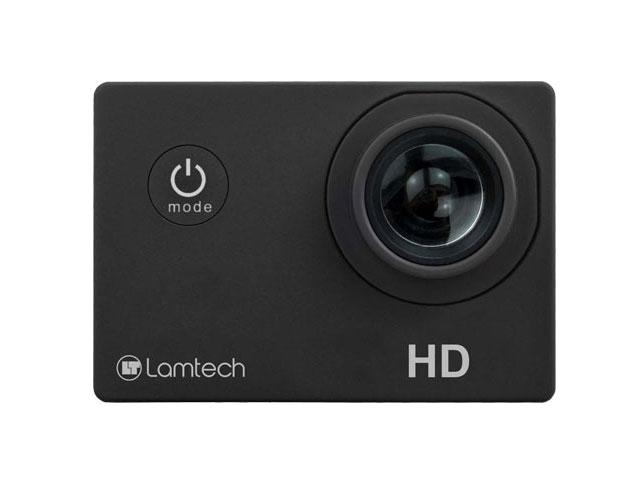 Εικόνα 2 Σε 1 Webcam και Action Camera σε Μια Συσκευή Lamtech LAM021158 - Ανάλυση Full HD - Μικρόφωνο - Αδιάβροχη έως 30m - Black