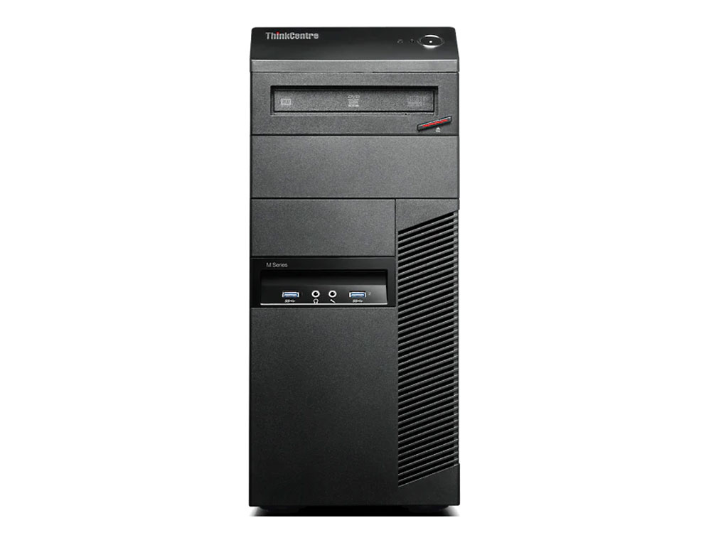 Εικόνα Lenovo ThinkCentre M83 Tower - Intel Core i5 4ης γενιάς 4xxx - 8GB RAM - 240GB SSD - DVD - Windows 10 Pro