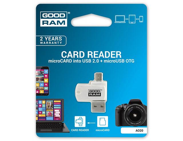 Εικόνα ΑΝΑΓΝΩΣΤΗΣ ΚΑΡΤΩΝ ΜΝΗΜΗΣ GOODRAM USB ΓΙΑ MICRO SD MICROUSB OTG - (5908267913673)