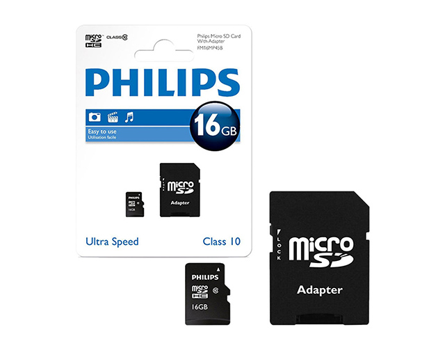 Εικόνα PHILIPS MICRO SD + ADAPTOR CLASS 10 U1 16GB