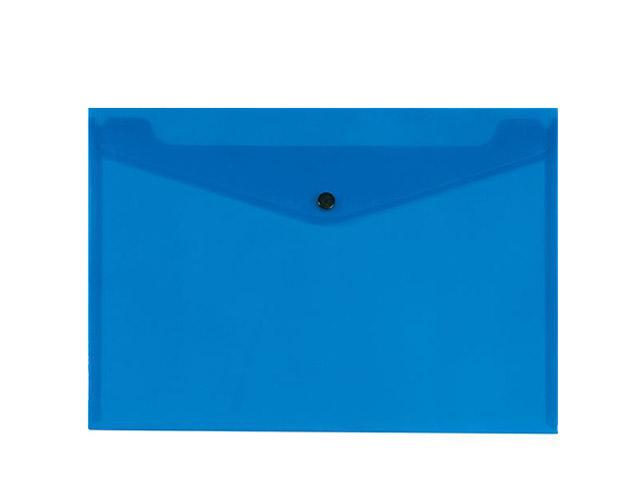 Εικόνα Φάκελος πλαστικός με κουμπί Α5 Διάφανος Μπλε