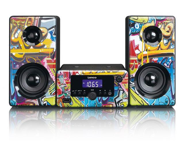Εικόνα Micro Hi-Fi  Lenco MC-020 Tags με Bluetooth και θύρα USB