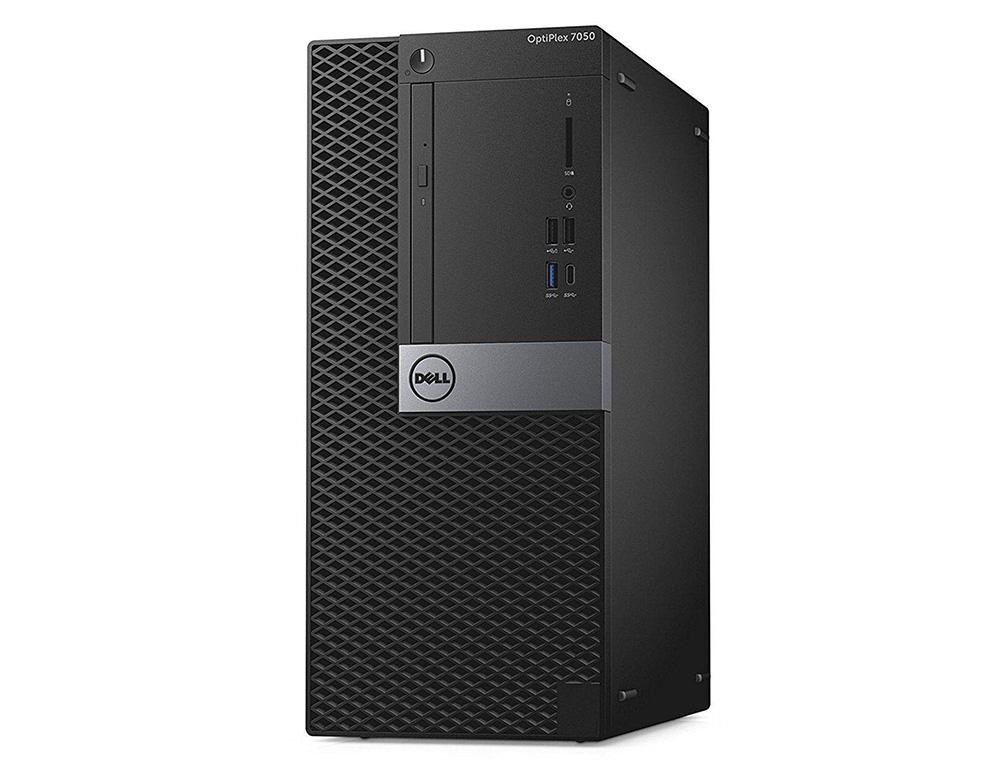 Εικόνα Dell Optiplex 7050 MT - Intel Core i5-6500 - 8GB RAM - 256GB SSD - DVD - Windows 10 Pro English