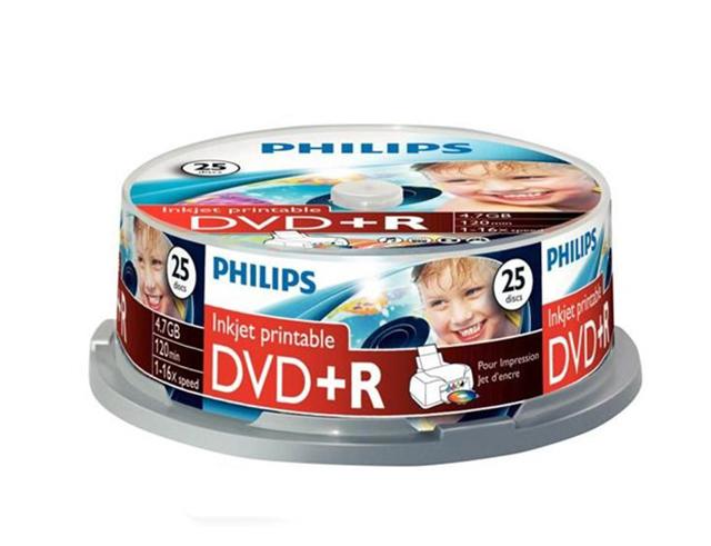 Εικόνα DVD+R ΚΕΝΑ PHILIPS 16Χ 25ΤΕΜ