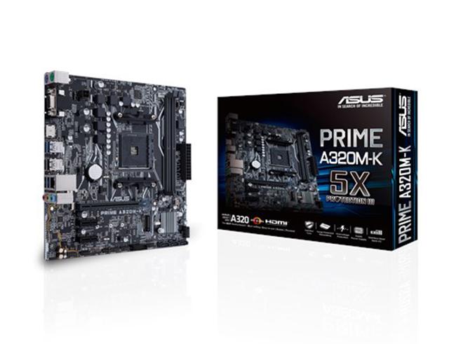 Εικόνα ASUS Motherboard PRIME A320M-K, AM4, DDR4, MATX