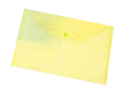 Εικόνα Φάκελος A4 PP με κουμπί - Διάφανο κίτρινο