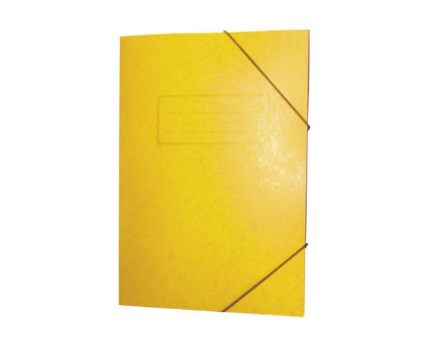 Εικόνα Ντοσίε Prespan με λάστιχο 25x35 - Κίτρινο