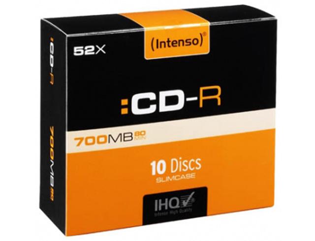 Εικόνα CD-R INTENSO 700MB 10 SLIM 1001622