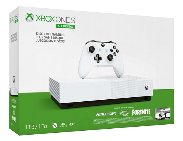 Εικόνα Κονσόλα Microsoft XBOX One S 1TB All Digital v2 & Minecraft & Sea Of Thieves & Fortnite