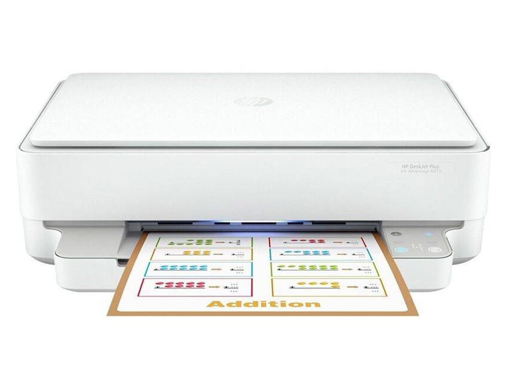 Εικόνα Έγχρωμο Πολυμηχάνημα HP DeskJet Plus Ink Advantage 6075 (5SE22C) - A4 - Εκτύπωση, Αντιγραφή, Σάρωση - 4800 x 1200 dpi - 7 ppm - USB, Wi-Fi - Apple AirPrint
