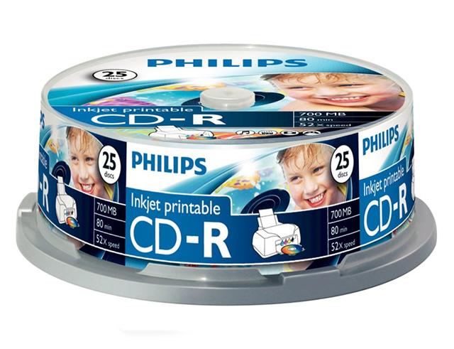 Εικόνα CD-R ΚΕΝΑ PHILIPS 52Χ 25 ΤMX PRINTABLE
