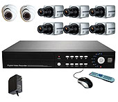 Εικόνα DVR HD4008 + 2 CAM EΣΩT + 6 EΞΩT ΣET
