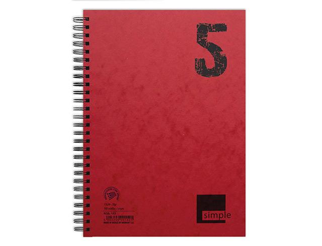 Εικόνα Τετράδιο Σπιράλ Simple A4 3 Θέματα 90Φ.